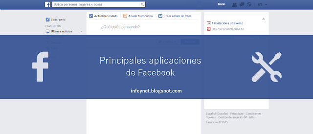 Principales aplicaciones de Facebook