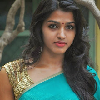 Dhansika looks cute in transparent Green Saree Unnal Mudiyum Penne Magazine Launch