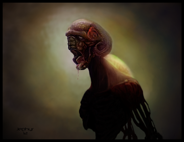 Jephyr Art - Digital Painting - It Came From The U.N. (Adobe Photoshop / Wacom Tablet)