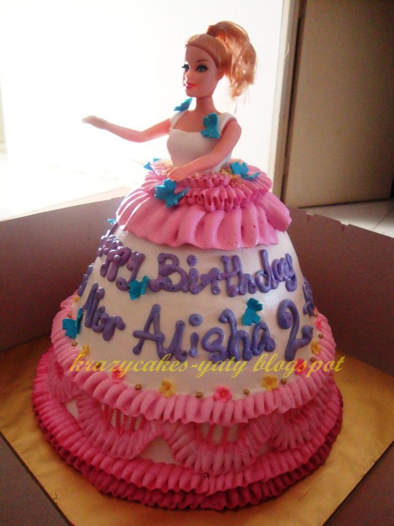 krazy cakes homemade cakes sungai petani barbie doll