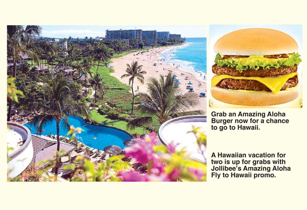 Jollibee's Amazing Aloha Fly to Hawaii Promo