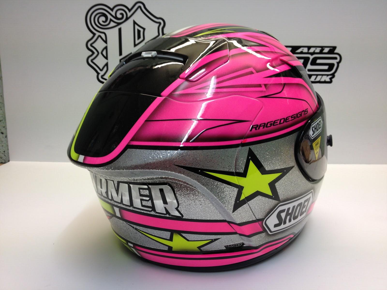 racing helmets garage shoei x spirit ii k farmer 2013 by rage designs. Black Bedroom Furniture Sets. Home Design Ideas