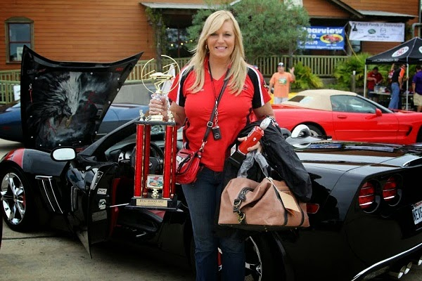 Karen with Corvette award