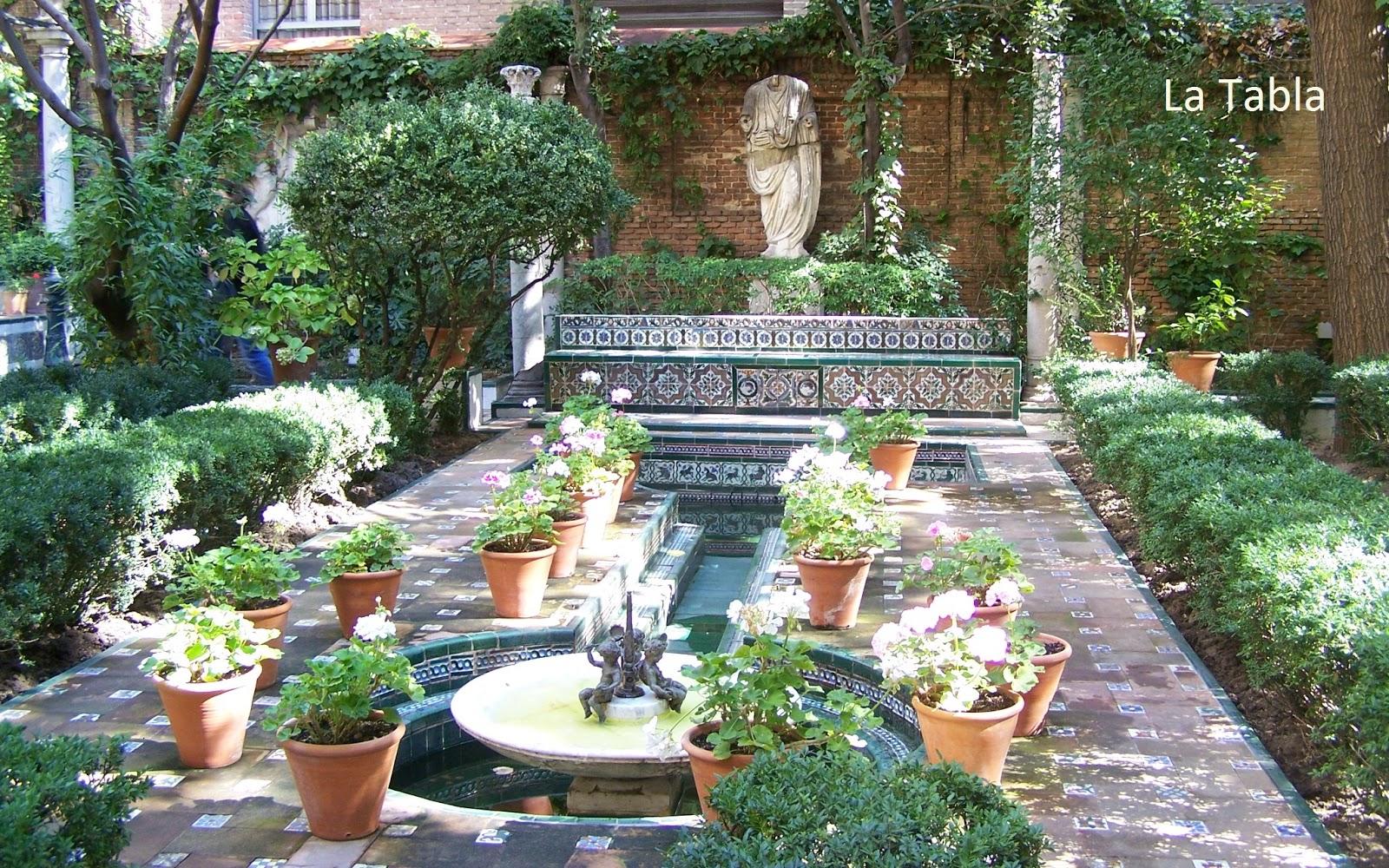 El blog de la tabla jard n de sorolla luz y agua con for Jardin spanish