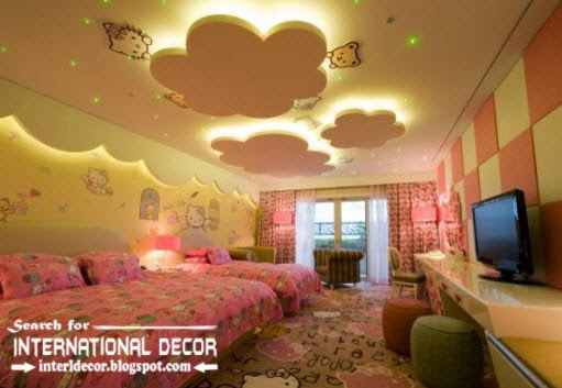 kids room ceiling designs, kids ceiling lights, false ceiling design and lights for kids