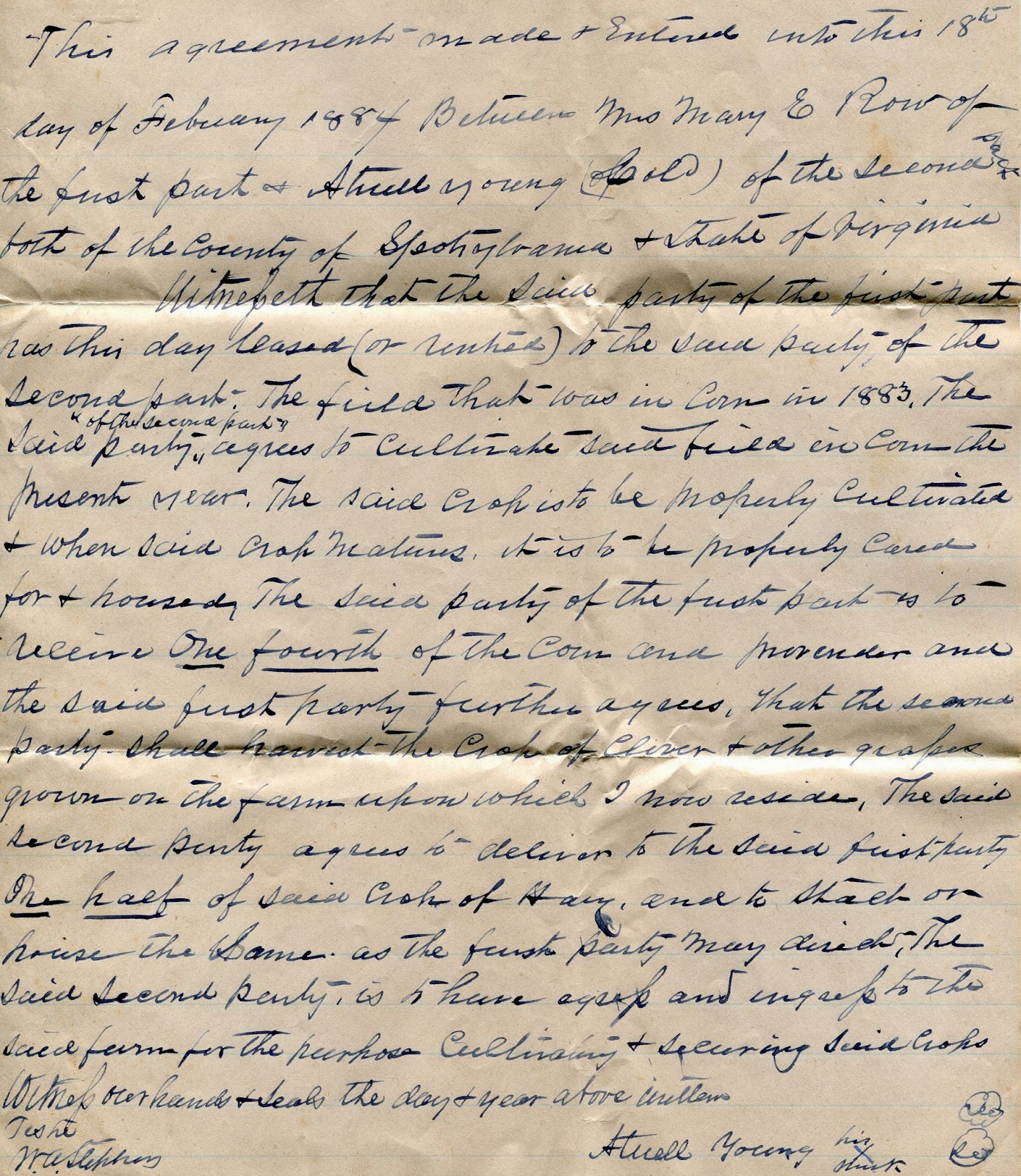 Spotsylvania memory atwell young the black confederate row young sharecropping contract 1884 platinumwayz