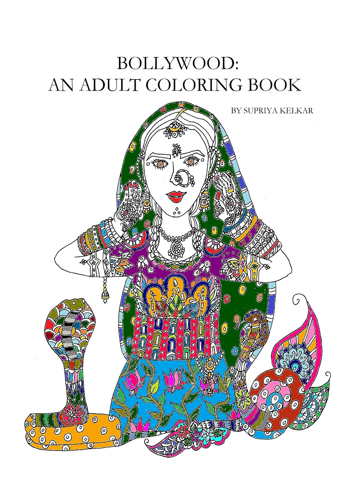 wading through soup bollywood an coloring book