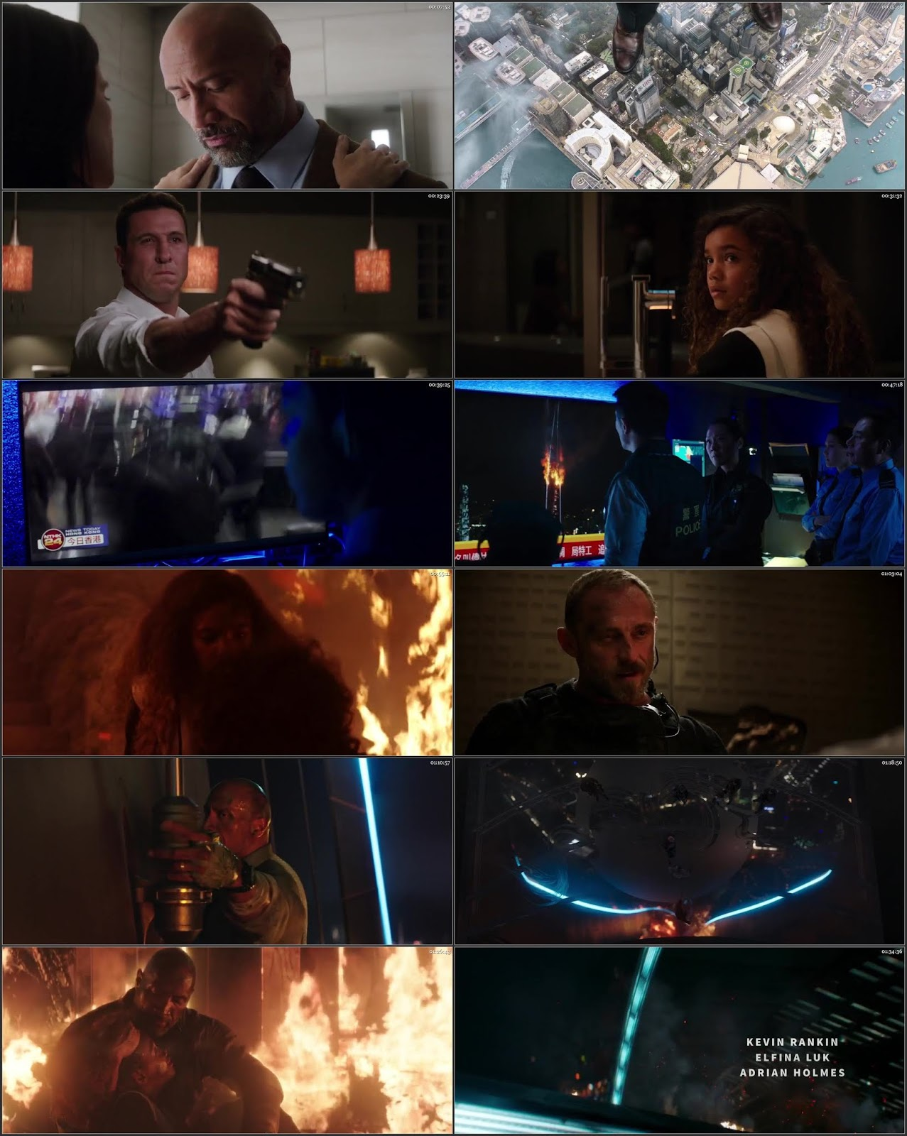 Skyscraper 2018 Dual Audio Hindi ENG HDRip 720p ESubs
