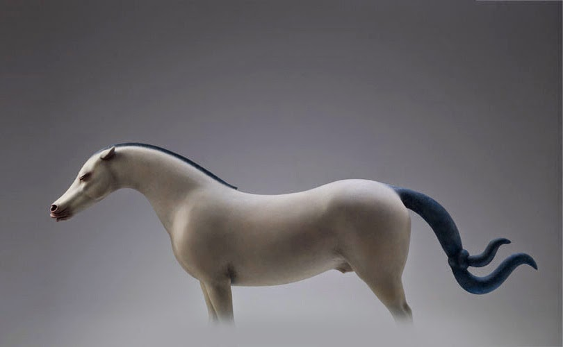 Surreal art Animal Sculptures Dream Series by Wang Ruilin horse