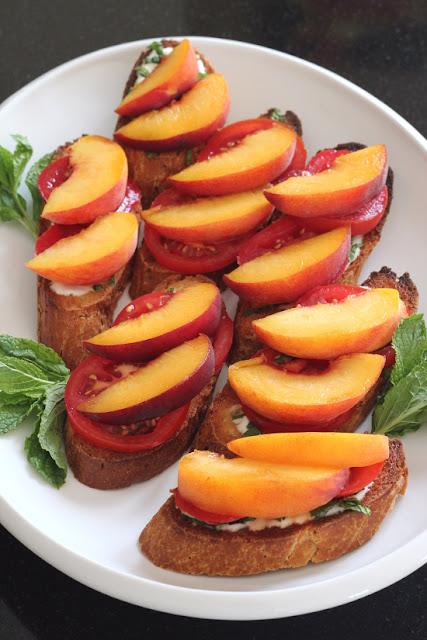Peach Tomato Crostini