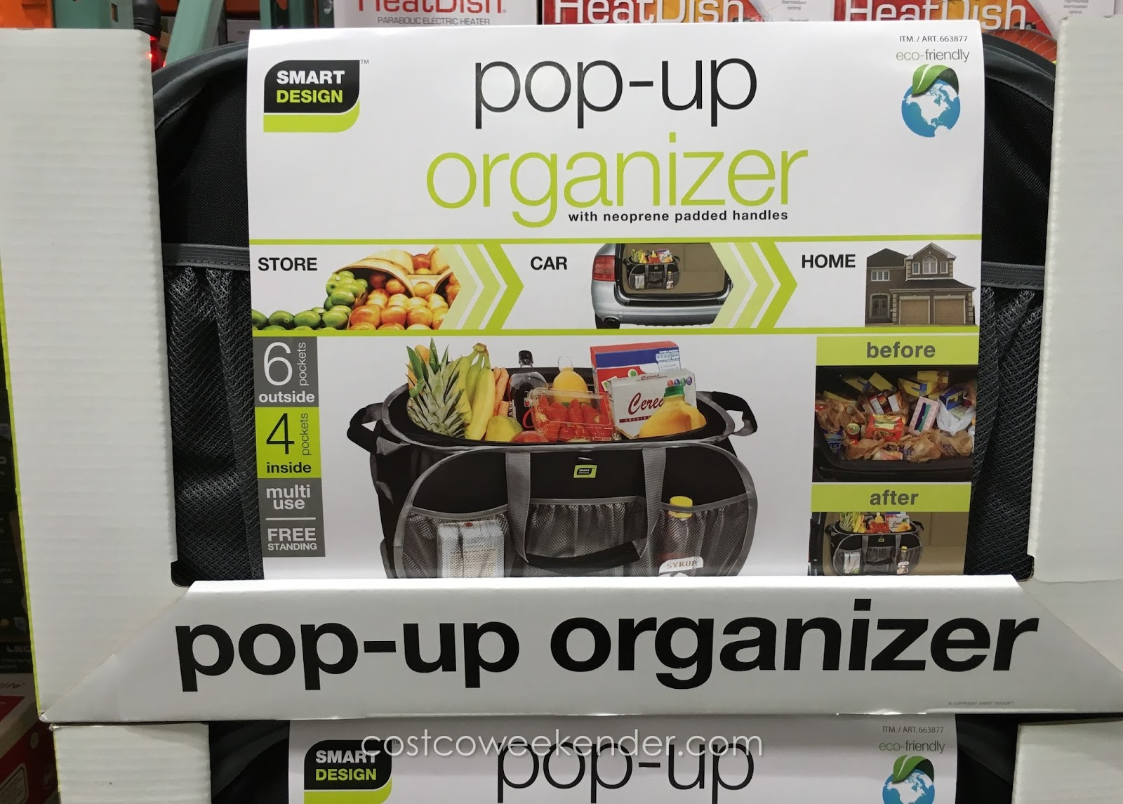 Costco 663877 - Store the Smart Design Pop-Up Organizer in your car or use it around the house