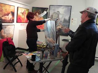 Simone Au Qu Bec La Peinture Au F Minin Avec Chantal
