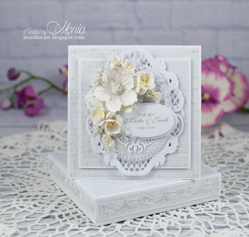 How to scrapbook wedding cards - But I Tried To Use Them To Make A Wedding Card I Used A White Flower Pretty Flori Red White Look How Great It Looks With Cherry Blossoms Sweethearts And