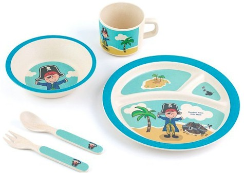 5-piece Kids Dinnerware Bamboo Fibre Set with a Pirate motif for $6.97 on Amazon (normally $24.99)  sc 1 st  Daily Cheapskate & Daily Cheapskate: 5-piece Kids Dinnerware Bamboo Fibre Set with a ...