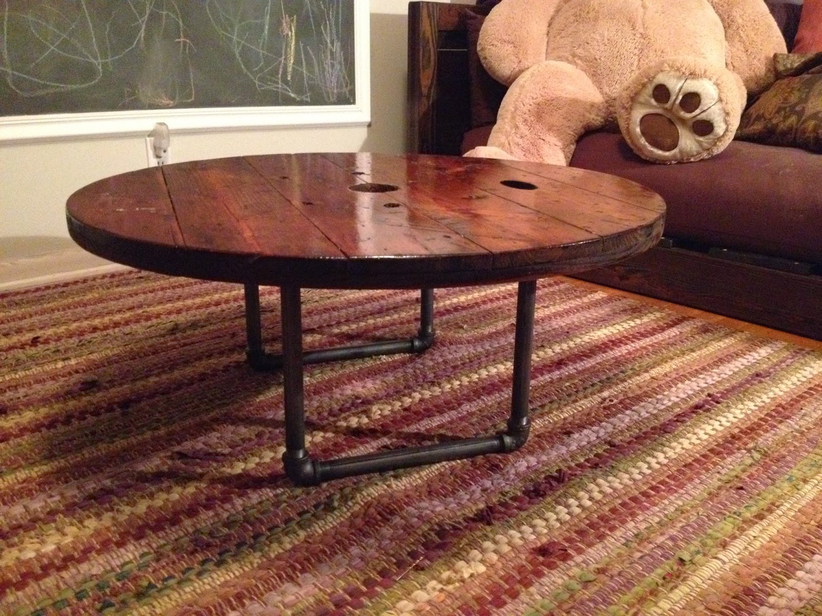 The Dizzy Designer Cable Spool Turned Coffee Table