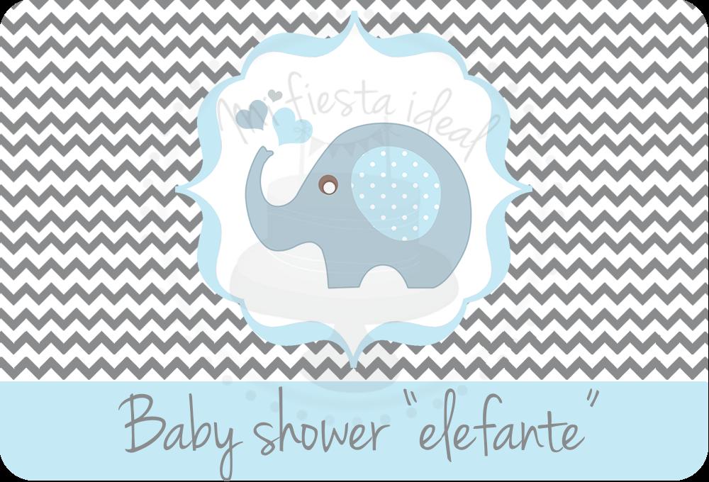 Decoracion Baby Shower Elefantes ~ Mi fiesta ideal kit baby shower quot elefante