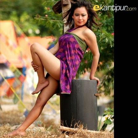 Super Hot Nepali Model Sangam Rai In Bikini