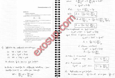 des exercices corrigés thermodynamique 2