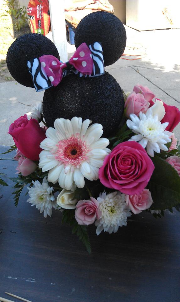 Kreations By Kendall Minnie Mouse Birthday Centerpiece
