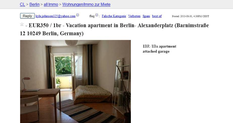 Craigslist berlin germany