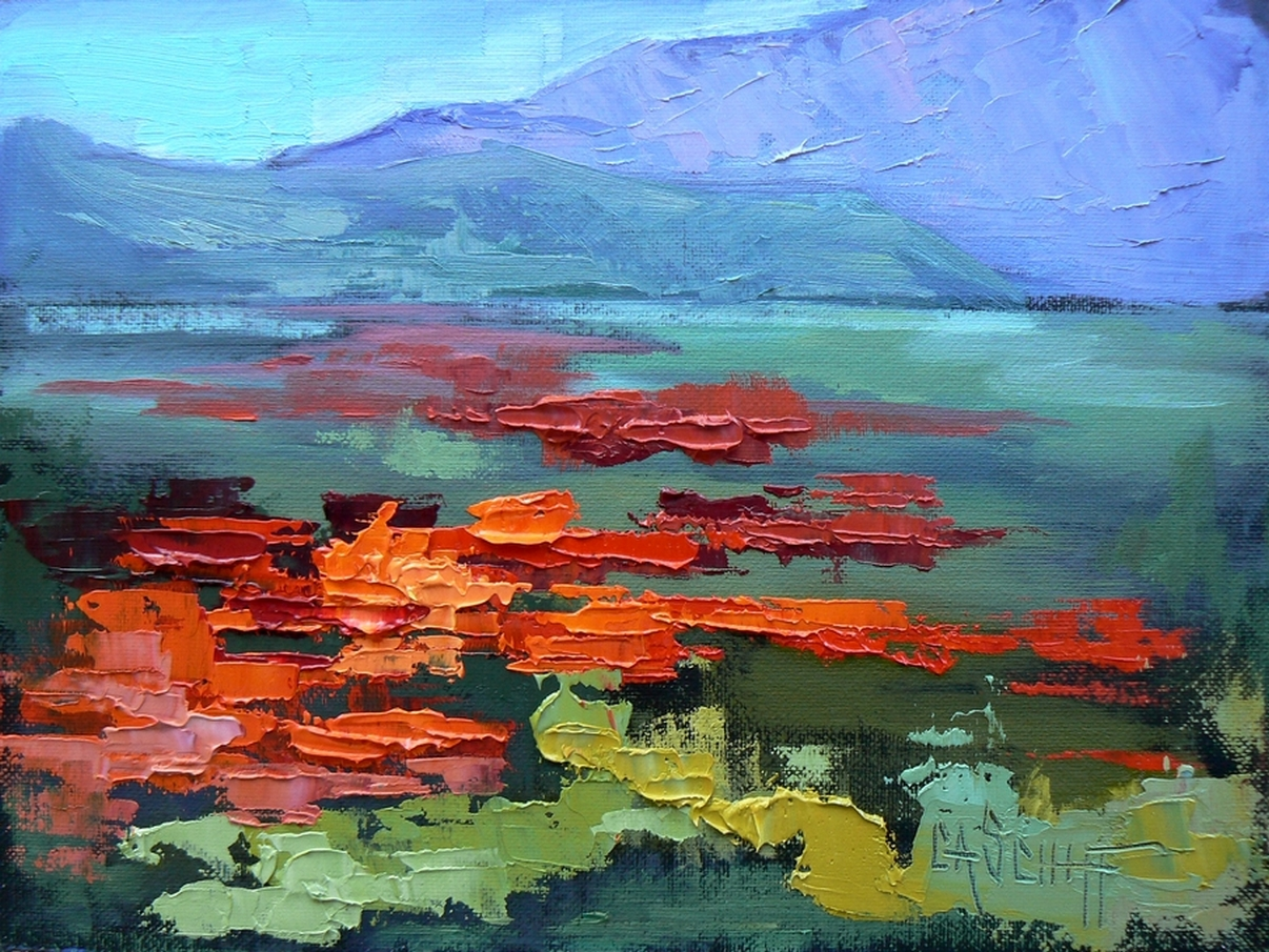 Carol Schiff Daily Painting Knife Work Daily Painting Landscape