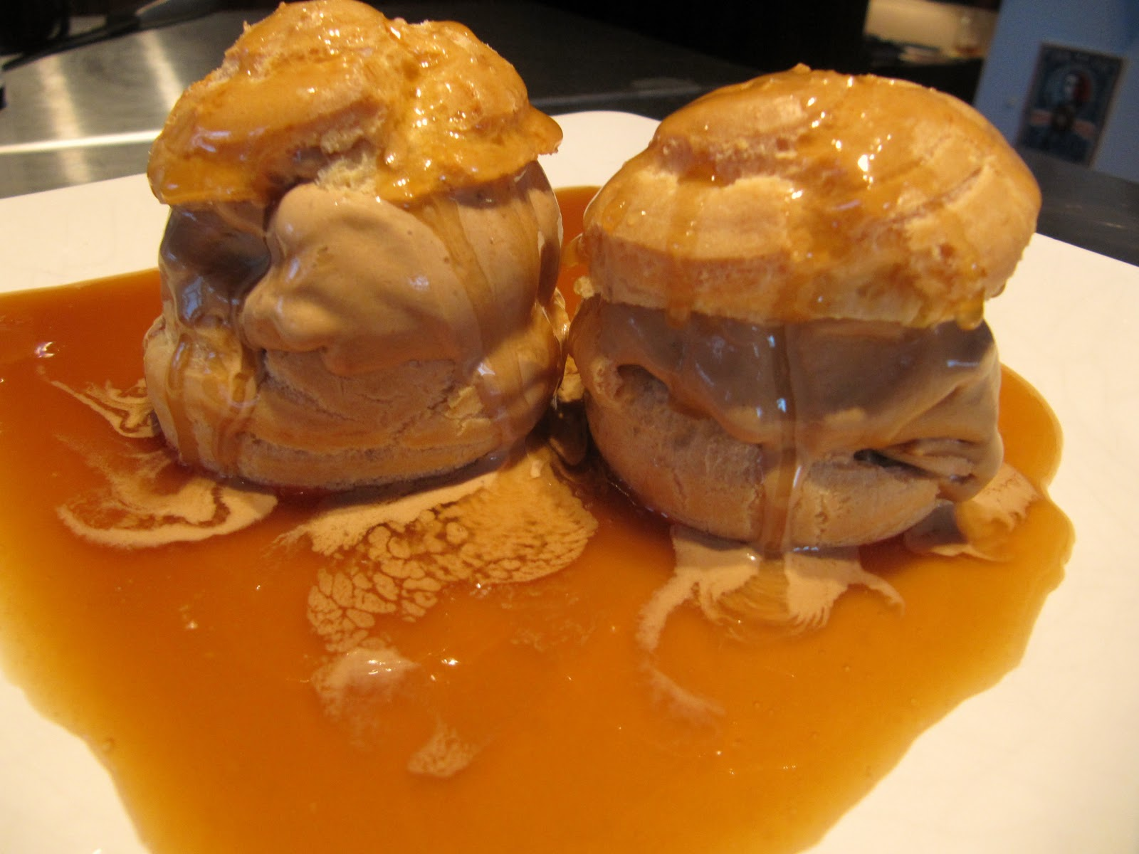 Profiteroles With Chartreuse Ice Cream Recipe — Dishmaps