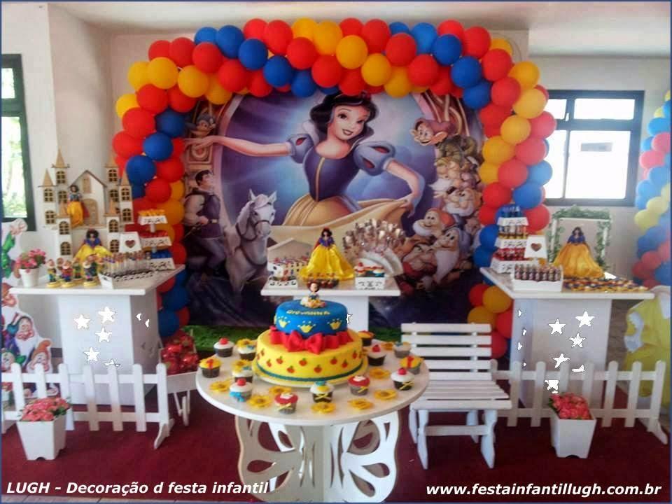 decoracao festa infantil tema branca de neve:Branca de Neve – Tema de mesa para decoração de festa infantil