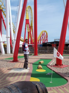 Photo of the Crazy Golf course at Fantasy Island in Ingoldmells