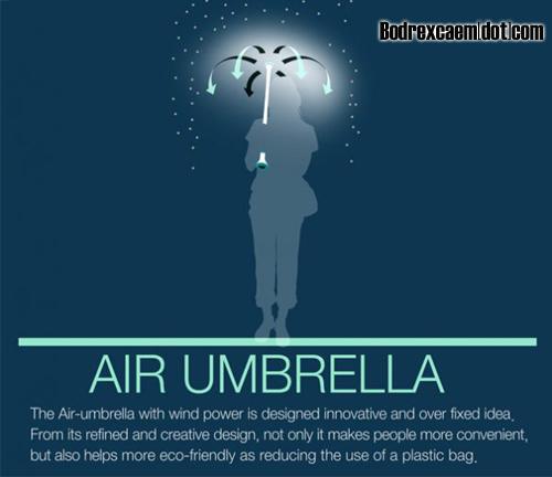 kabar-aneh.blogspot.com - Payung Unik Dengan Sistem Udara