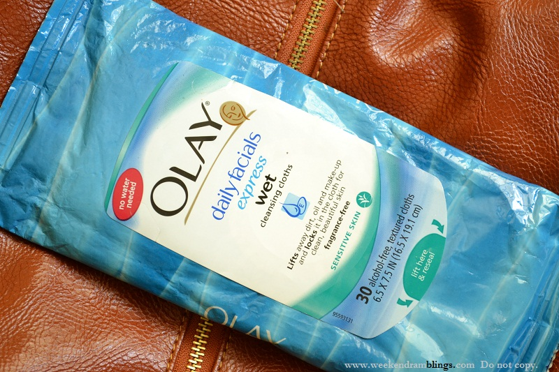 olay daily facials express wet cleansing cloths review