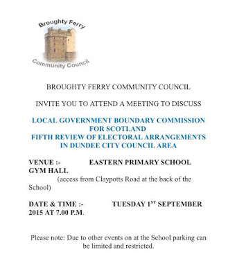 Broughty Ferry Community Council Special Meeting September 2015