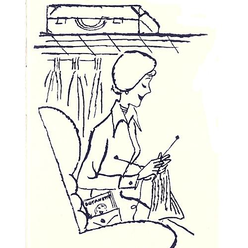 Woman Knitting Clipart : Vintage knit crochet shop talk stoles pattern
