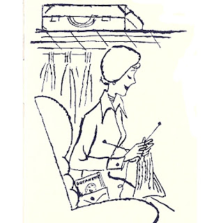 Woman Knitting Clip Art Picture