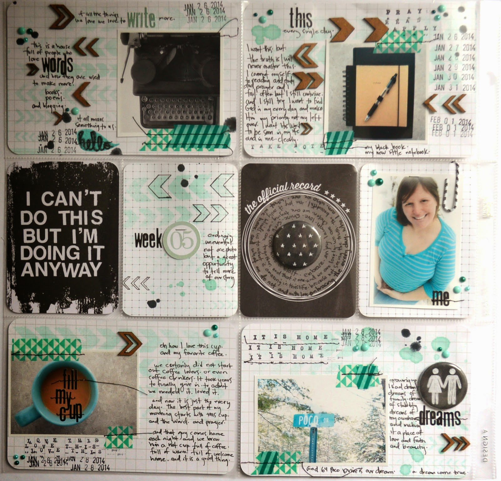 chaos meets creativity week five 2014 and journaling in pocket