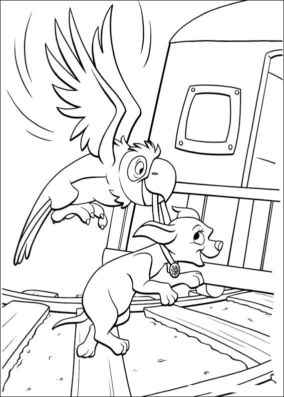 Free printable disney bolt quot dog quot cartoon coloring pages