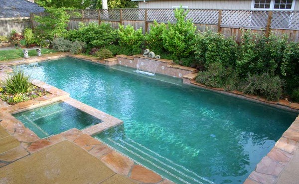 10 modern swimming pool design and simple home inspirations for Simple backyard pools