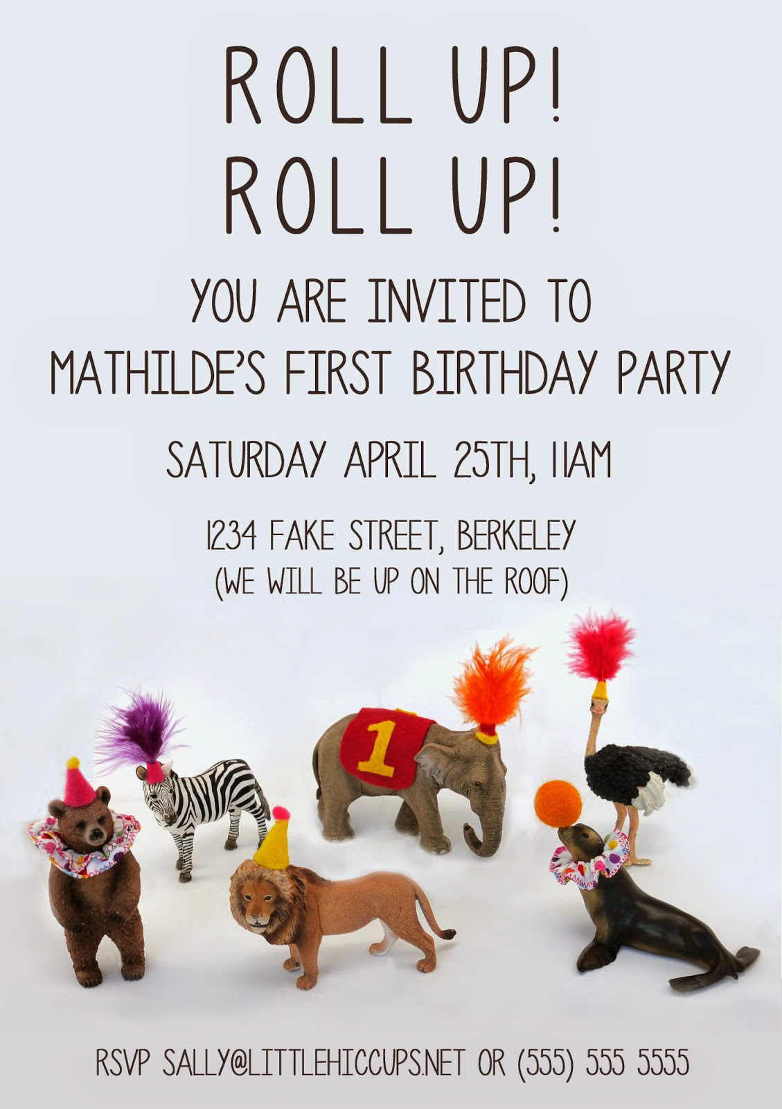 Little Hiccups: Circus Party Invitations