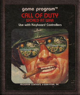 Call of Duty Guerra Cartucho Atari War retro Cigarretes