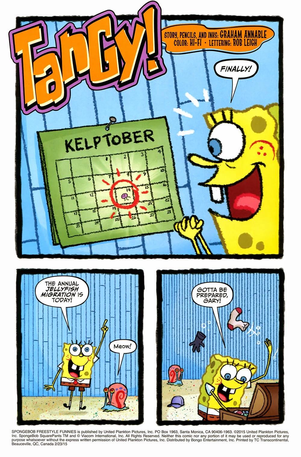 free comic book day 2015 u2013 spongebob freestyle funnies 2015