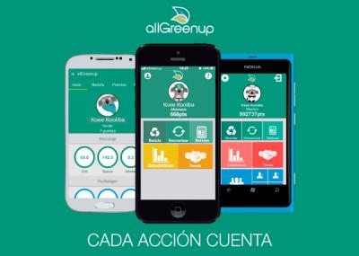 Aplicaciones para Android y iPhone: allGreenup para cuidar el medio ambiente desde tu celular