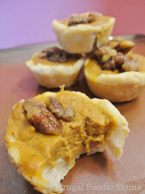 Mom's Test Kitchen: Pumpkin Pecan Tassies ~ guest post by Frugal Foodie Mama