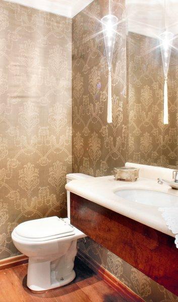 Banheiros com papel de parede -> Banheiro Decorado Com Papel De Parede