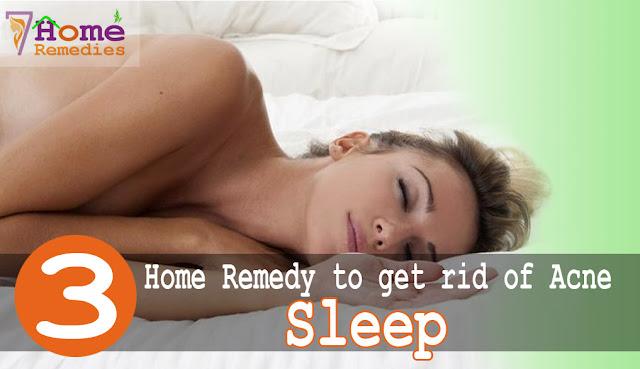 sleep reduces acne