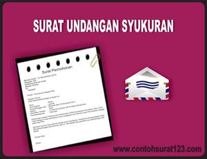 Gambar Contoh Surat Undangan Syukuran
