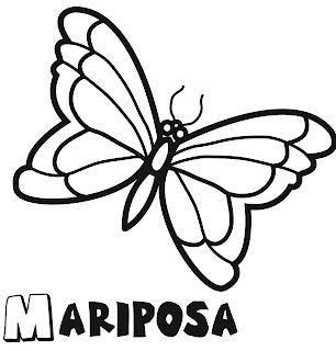 mariposa para colorear 2