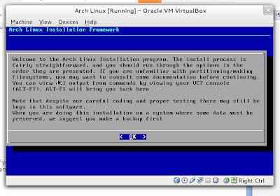 Arch Linux Installation Framework Start Page