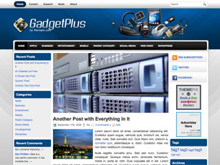 Free GadgetPlus WordPress Theme