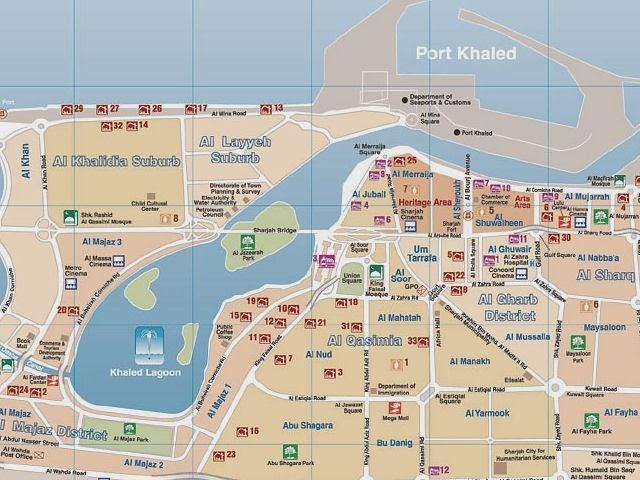 Abu Dhabi UAE city map