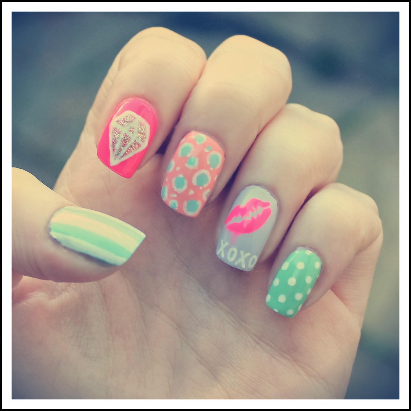 Dahlia Nails Nail Art Feb Xoxo