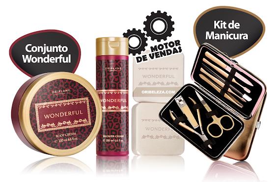 Kit de Manicura Luxury e Conjunto Wonderful da Oriflame